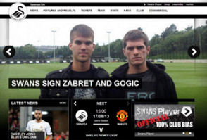 SWANSEA SIGN ZABRET AND GOGIC